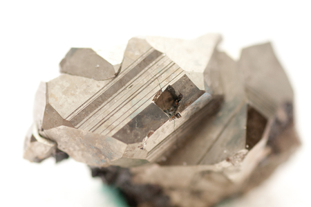 pyrite: iron pyrite metal, fools gold mineral sample