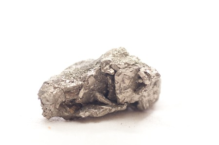 hydrothermal: iron pyrite metal, fools gold mineral sample