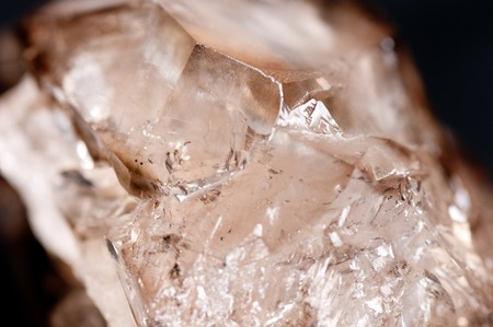 quartz crystal: large dirty quartz crystal mineral sample with many facets
