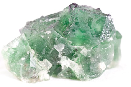 octahedral: large green fluorite cubic crystal mineral sample