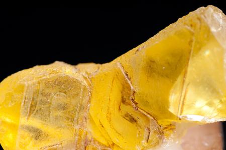 sulphur: pure sulphur or sulfur ore sample, often called brimstone Stock Photo