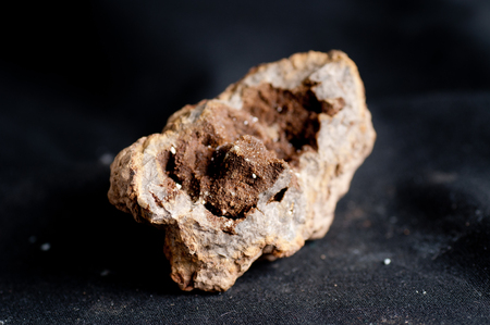 sedimentary: anapaite mineral crystal, appears in fossilized rocks or sedimentary stone Stock Photo