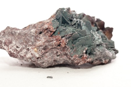 sulphide: goethite and kyanite crystal metal and mineral samples Stock Photo