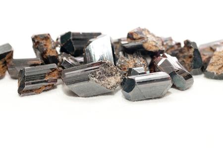titanium: rutile black metallic ore sample for making jewelry