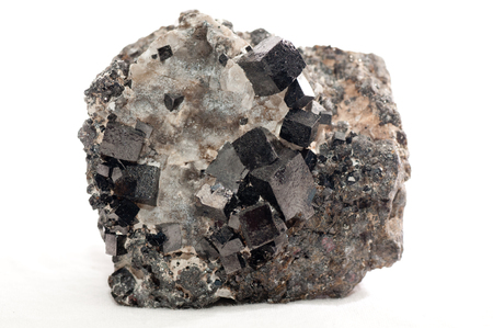 magnetite: magnetite iron metal mineral sample, a rae earth mineral