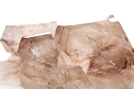 quartz crystal: smoky quartz crystal mineral sample, a rare earth mineral