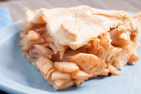 decadent: decadent home made apple pie with cinnamon Stock Photo