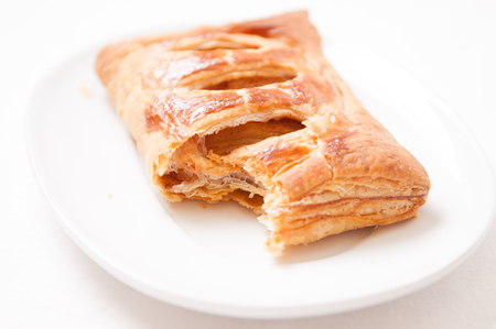 danish puff pastry: puff pastry apple pastry turnovers for dessert Stock Photo
