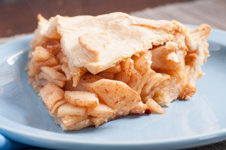 decadent: decadent home made apple pie with cinnamon Stock Photo