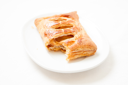 puff pastry: puff pastry apple pastry turnovers for dessert Stock Photo