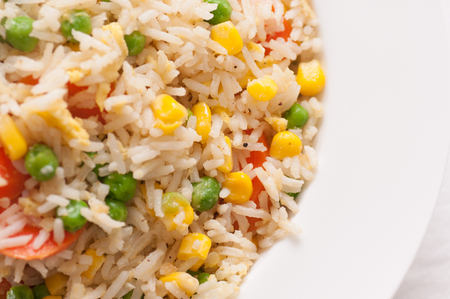 home made: home made vegan or vegetarian vegetable fried rice