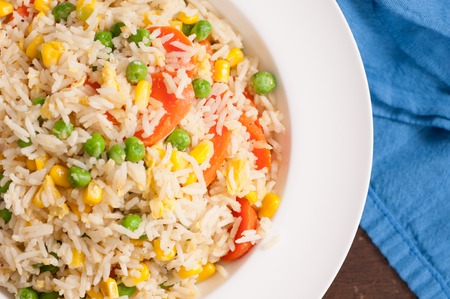 china cuisine: home made vegan or vegetarian vegetable fried rice