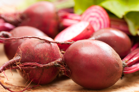 common target: red striped chioggia or sweet candy cane beets farm fresh