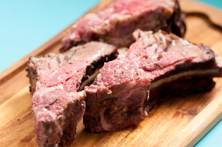 prime: savoury beef bones cut from a prime rib roast