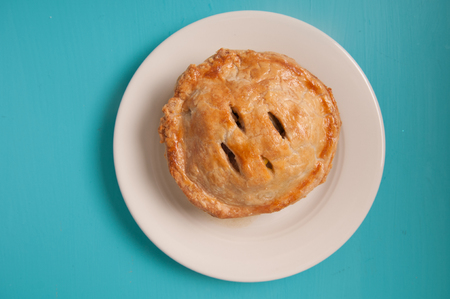 savoury: meat pie made with roast beef in a savoury gravy