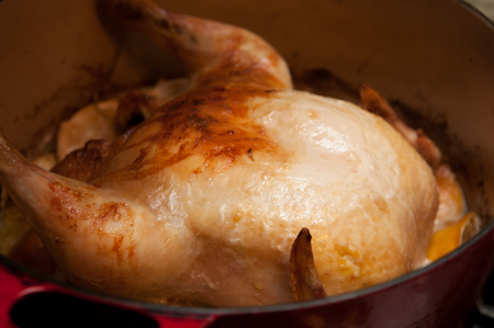 whole roasted chicken  in lemongrass and coconut milk, crock pot