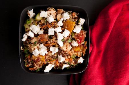 sugar beet, quinoa and goat cheese salad Stock Photo
