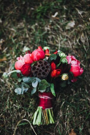 beautiful wedding bridal bouquet.