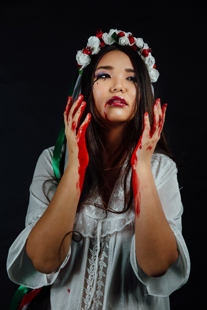 Asian girl halloween
