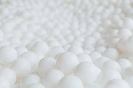 Many White balls texture background. Stock Photo