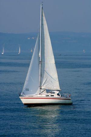 gust: Sailboat Stock Photo