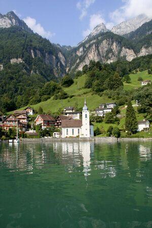 schweiz: Church in switzerland Stock Photo