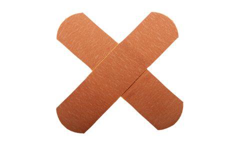 doctoring: Band-Aid Archivio Fotografico