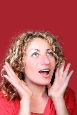 pleaded: Surprised woman