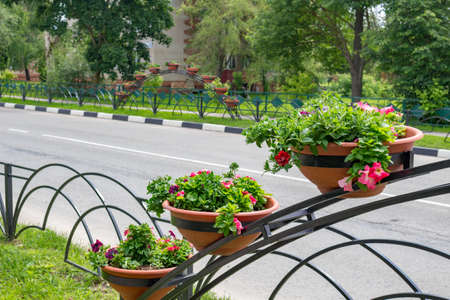 Decorating the colors of city streets, Vorsino, Russia
