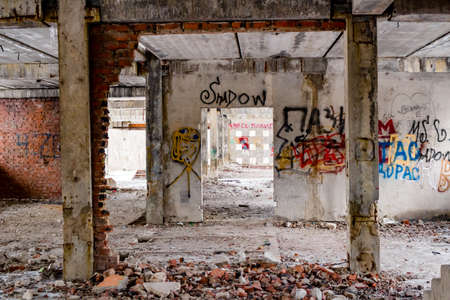 Abandoned unfinished building