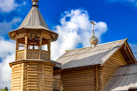 View of wooden Orthodox Church. Obninsk, Russia