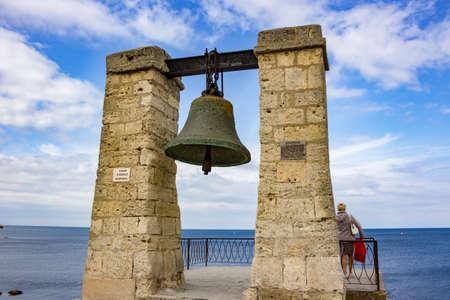 SEVASTOPOL, CRIMEA - SEPTEMBER 2014: Bell in Historical and Archaeological Museum-Reserve