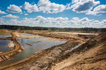 Sand quarry and Mining. Bolotskoe, Zhukovskiy district, Kaluzhskiy region, Russia