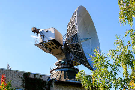 A large satellite dish antenna for meteorological research