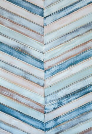 Abstract of colored wooden panels