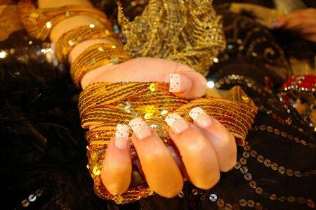 finger nails: Finger Nails Stock Photo