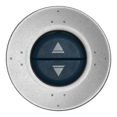 Silver selection disc with two large buttons Stock Photo - 3262402