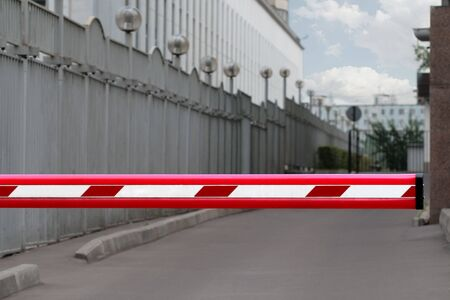 Road barrier and restricted parking area Stock Photo - 3448225