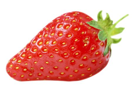 Juicy strawberry. Isolated on white Stock Photo - 4997620