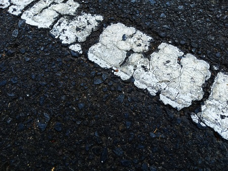 Road traffic paint on the asphalt surface And to ensure safety Foto de archivo