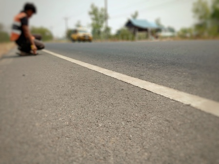 Exploring roads for design in Thailand, blurred images 免版税图像