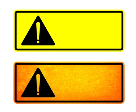 Warning signs for the obstructions ahead Stock Photo