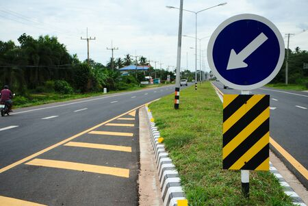 Asphaltic concrete road in Thailand