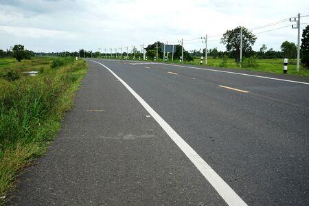 Asphaltic concrete road in Thailand Banque d'images - 132016047