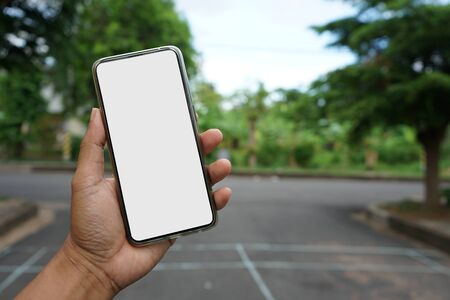 Mobile phones face blank For filling pictures or text