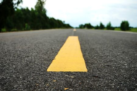 Road traffic paint on the asphalt surface And to ensure safety Archivio Fotografico