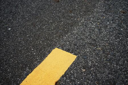 Road traffic paint on the asphalt surface And to ensure safety 写真素材