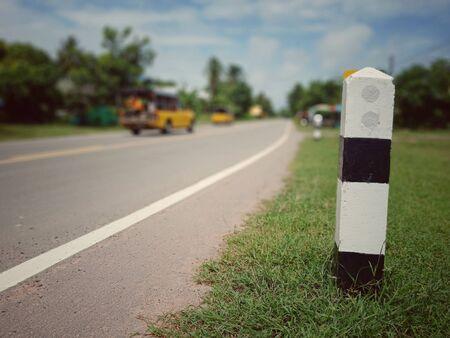 Asphaltic concrete road in Thailand