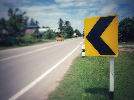 Asphaltic concrete road in Thailand Banque d'images - 132014538