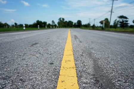 Asphalt concrete road surface in thailand Banque d'images - 132014508